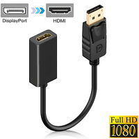 Ultra-Smart Gold Plated Display Port DP to HDMI VGA DVI Adapter Converter Cable
