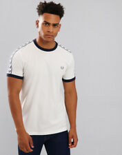 Fred Perry Round Neck T Shirt M6347 Mens M White 71833