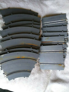 Lot of 14 Eldon Unger 1/32 Slot Car Road Race Curved and Straight Tracks