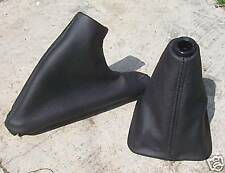 MGF TF BLACK ECO LEATHER GEAR & HANDBRAKE GAITER SET 95-99