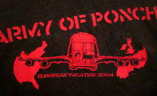 ARMY OF PONCH small T shirt European Vacation tour Florida punk-rock tee 2004