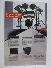 "11x16"" retro magazine advert 1987 SIMMONS sds7 etc"