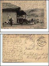 1917 Deutsche Feldpostkarte Einheimische Rumänien Bauernhaus Casa la Tara 1.WK