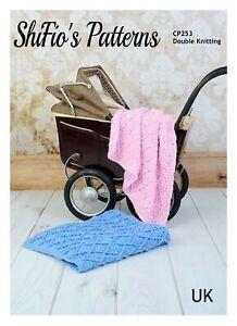 Crochet Pattern for Baby Blanket, Baby Diamond Blanket Pattern, DK, SCP253