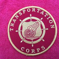 US ARMY TRANSPORTATION CORPS PATCH IS RED IN COLOR