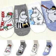 4 Pairs Moomin Animation Character Socks Women Socks Cartoon Socks MADE IN KOREA