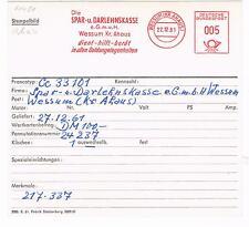 Wessum ( Kr Ahaus ) 1961 Spar u Darlehnskasse Geld AFS Archivkarte Unikat