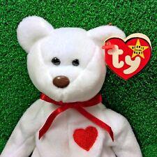 Ty Beanie Baby Valentino Bear Retired PVC Valentine's Day Plush Rare NO Errors