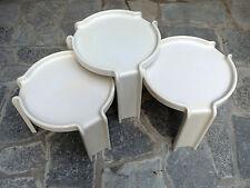 Tavolini sovrapponibili Kartell design Stoppino nesting table anni 70 space age