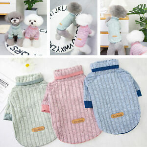 Cartoon Small Dog Sweater Puppy Vest Flannel Warm Small Teacup Dog pets Clothes