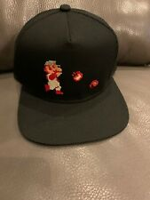 NWT SUPER MARIO BROS 'FIRE POWER' Snapback Hat - Black & Red Target EXCLUSIVE