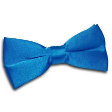 Nœud papillon bleu en polyester pour homme