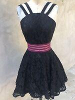 City Studio Prom Dress Party Cocktail Black Lace Tulle NEW Jr. 7 Women's 4