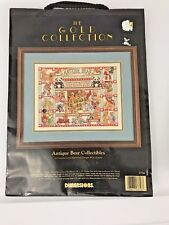 Dimensions The Gold Collection Cross Stitch Kit Antique Bear Collectibles #3756