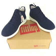 Fitflop, Mens Shoes, Sporty Pop High Top in Canvas, Midnight Blue, UK 10 EUR 44