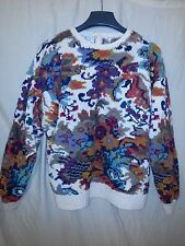 Women's Signature by Northern Isles Cable Knit Multi-Color Sweater L Large EUC