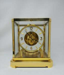 Vintage 1970's Jaeger Lecoultre Atmos Clock 15 Jewel - Working