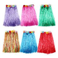Hawaiian Dress Skirt Hula Grass Skirt With Flower Accessories Lady Costume W&T