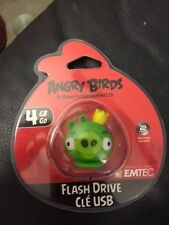 Emtec 4GB Angry Birds USB Flash Drive Green Pig With Strap New!!!
