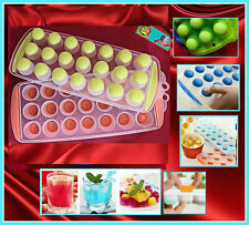 New listing 2x Pack Easy Push Pop Out Mini Ice Cube Tray With Flexible Silicone Bottom