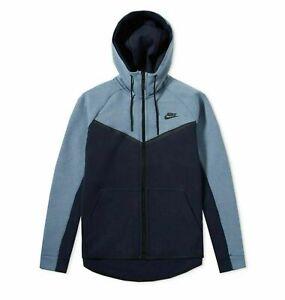 Nike Sportswear Tech Fleece Full-Zip Hoodie Blue Size L Large 928483 652