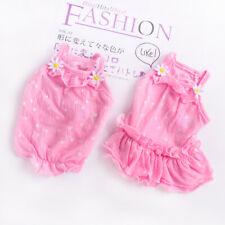 Thin Summer Cat Dog Vest Dress Pink Small Puppy Yorkie Skirt Cute Pet Clothing
