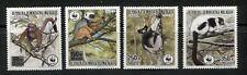 MADAGASCAR, MALAGASY 1988, WWF, LEMURS, Scott 836-839, MNH