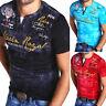 G.B.D. Herren V-Neck T-Shirt Slim Fit Poloshirt Kurzarm Navy/Schwarz/Grau NEU
