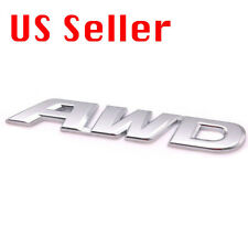 AWD 3D Emblem Silver Chrome Car Metal Badge Sticker Decal For Auto SUV Truck
