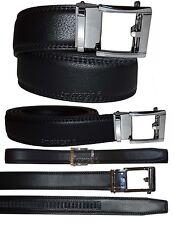 "Men's belt. 38"" Leather Dress Belt, Click Comfort. Automatic Lock. Belt Buckle N"