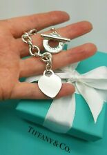 Authentic Tiffany & Co. Heart Tag Toggle in Sterling Silver Bracelet 7.5 Inches