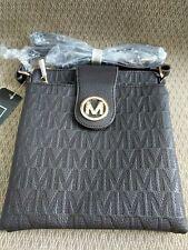 MFK Collection by Mia K. Farrow Marietta M Signature Cross-Body Bag Purse New