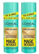 2 X 75ML L'Oreal Magic Retouch LIGHT BLONDE Instant SPRAY Dark Root Concealer UK