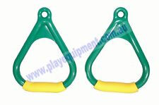 PLASTIC TRAPEZE TRIANGLE HANDLE GRIPS 2pc-GWY Swing Set  Handle Play Rings Kids