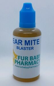 Ear Drops For Cats Dogs Hamster Rabbit Ear Mites Blaster Mucky Ear Cleaner 30ML