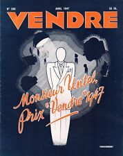 ▬►MARKETING PUBLICITÉ  - VENDRE N° 206 (AVRIL 1947) --  COVER ANDRÉ-A STEENHOUTE