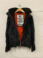 Men's Superdry The Original Windcheater Hooded Jacket Coat Black Size Medium M