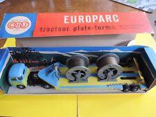CIJ EUROPARC 4/75 tracteur SAVIEM LSR semi remorque porte bobines électriques