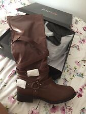 BNIB Just Fab Brown Knee High Boots UK 9 (More Large 8)