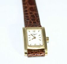 Longines Genuine Leather Solid Gold Case Wristwatches