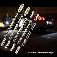 23 Pcs 12V White Car Interior LED Chip Light Bulb Front/Rear Dome Reading Lamp