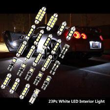 23 Pcs 12V White Car Interior LED Chip Light Bulb Front/Rear Dome Reading Lamp