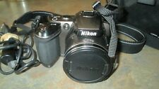 Nikon Coolpix L120 14.1MP Digital Camera Wide 21x Zoom w/Strap/Camera Bag/ USB