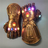 Thanos Infinity Gauntlet LED Light Gloves Marvel Legends Avengers Prop Cosplay