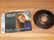 CHRISTIAN ANDERS - HALLO WIE GEHT'S DIR / 3 TRACK MAXI-CD MINT!