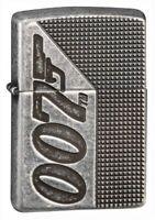 Zippo Armor Antique Silver Plate James Bond 007 Windproof Pocket Lighter, 49033
