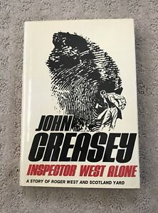Inspector West Alone by John Creasey Hardcover Brand New