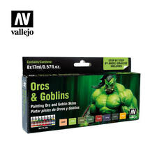 VALLEJO 72304 ORCS GOBLINS FANTASY Game Color Paint Set 8 Colors FREE SHIP
