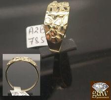 New Man's 10k Yellow Gold Nugget Ring 2.5Gram, Sizable, Pinky Ring,Custom Design