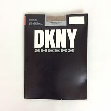 DKNY Silky Sheers Pantyhose Size Tall Beige Neutral Control Top Nylon Spandex